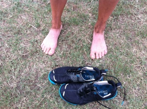 My feet after the race - that's not a tan line!