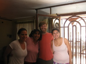 Me, Karina's mom, John, and Karina before leaving Monterrey