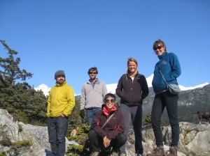 Scott, Dillon, Kristina, Kellee and Zabeth - some of our fellow guides and housemates for the summer