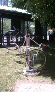 bike repair stand at Burnside Park