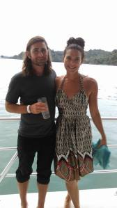 Dallas and me on a boat outside of Quepos, Costa Rica