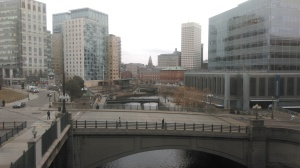 Dreary Providence at the cusp of winter and spring