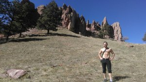Hiking in sunny Boulder, after our job interview