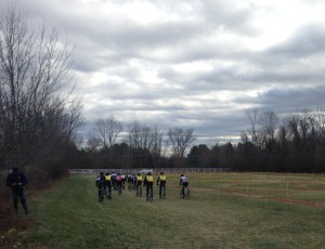 There they go, off the start at Monstah Cross in Walpole, MA!