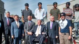A few teammates attended the opening ceremony for the George Redman Linear Park on the Washington Bridge in September and got a good photo op with Rhode Island's politicians.