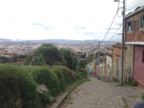 Though we shouldn't have gone up this street, we did get an amazing view of Bogota.
