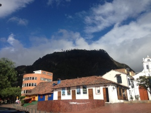 Monserrate on a clear day, with no fire, was ever elusive to our hiking attempts