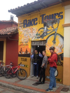 This is where we began our bike tour, in the Candelaria just a few blocks from our hostel.