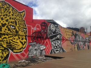 There is government-funded graffiti everywhere in Bogota, and it all has a meaning.