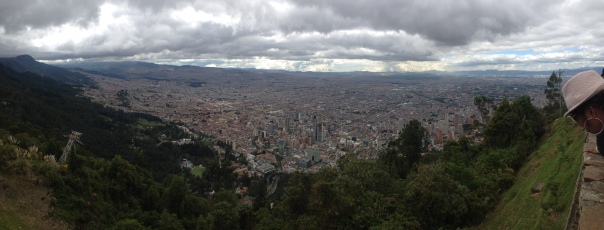 The view from Monserrate includes the entire city of Bogota.
