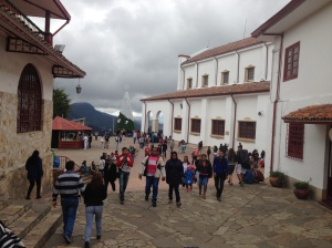 Here is the plaza around the church on top of Monserrate.