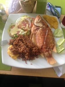 This is the first meal we had before finding our hostel in Cartagena.