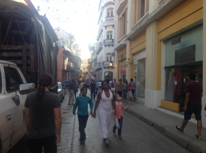 The streets in Cartagena's centro historico are always full of people.
